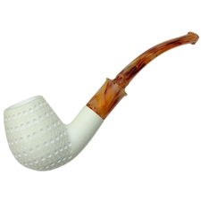 AKB Meerschaum Lattice Bent Egg (with Case)