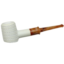AKB Meerschaum Lattice Poker (with Case)