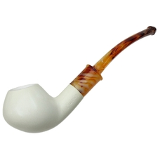 AKB Meerschaum Smooth Bent Brandy