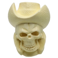 AKB Meerschaum Carved Skeleton Cowboy (with Case)