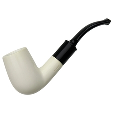 AKB Meerschaum Smooth Bent Billiard (with Case)