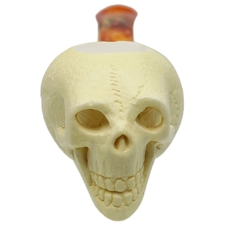 AKB Meerschaum Carved Skeleton (with Case)