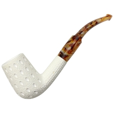 AKB Meerschaum Lattice Bent Billiard (with Case)