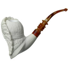 AKB Meerschaum Carved Native American Chief (Kenan)