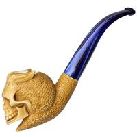AKB Meerschaum Carved Skeleton with Stylish Horns (Ali) (with Case)