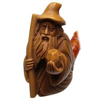 AKB Meerschaum Carved Wizard (with Case)