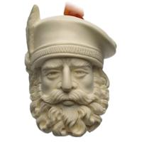 AKB Meerschaum Carved Man in Hat (with Case)