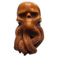AKB Meerschaum Carved Tentacles on Skull with Tamper (with Case)
