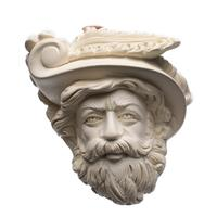 AKB Meerschaum Carved Beard Man in Hat (with Case)