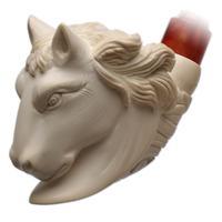 AKB Meerschaum Carved Horse (I. Baglan) (with Case)