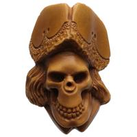 AKB Meerschaum Carved Pirate Skull (with Case)