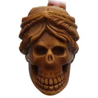 AKB Meerschaum Carved Skull (with Case)