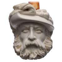 AKB Meerschaum Carved Bearded Man (with Case)