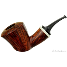 Smooth Bent Dublin with Vintage Swirl Bakelite Ring (210)