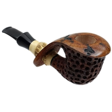 Konstantin Shekita Partially Carved Bent Dublin with Bamboo