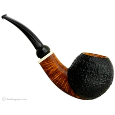 Scott Thile Partially Sandblasted Bent Apple with Celluloid (FH) (317)