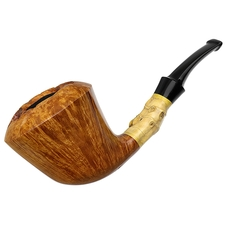 Doctor's Smooth Bent Dublin with Bamboo with Polymerized Dinosaur Bone (568) (Flash)
