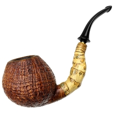 Doctor's Sandblasted Bent Apple with Bamboo (582) (Double Flash)