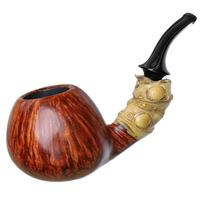 Doctor's Smooth Bent Apple with Bamboo and Boxwood (642) (Double Flash)
