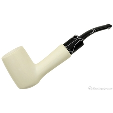 MeerQueen Meerschaum Smooth Bent Billiard (with Case)