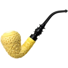 MeerQueen Meerschaum Carved Bent Acorn (with Case)