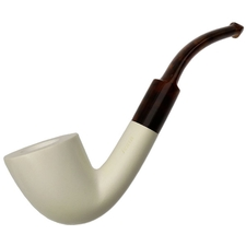MeerQueen Meerschaum Smooth Bent Dublin (with Case)