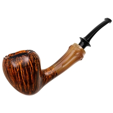 Ping Zhan Smooth Acorn with 'Bamboo' Carved Horn