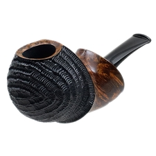 Ping Zhan Partially Rusticated Reverse Calabash Apple with Boxwood