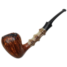 Ping Zhan Smooth Acorn with Bamboo Carved Horn
