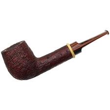 BriarWorks Handmade Crimson Sandblasted Billiard with Boxwood