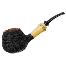 Li Zhesong Sandblasted Bent Brandy with Bamboo