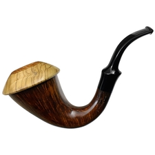 Mimmo Provenzano Collection Smooth Calabash with Smooth Olive Cap