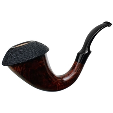 Mimmo Provenzano Collection Smooth Calabash with Sandblasted Morta Cap