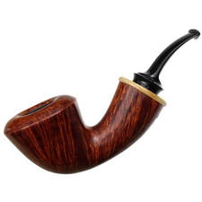 Jody Davis Smooth Bent Dublin with Stellar's Sea Cow Bone (Saint) (A16) (13)