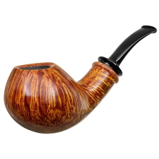 Bill Shalosky Smooth Bent Apple with Afzelia Burl (253)