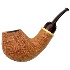Bill Shalosky Sandblasted Bent Egg with Boxwood (366)