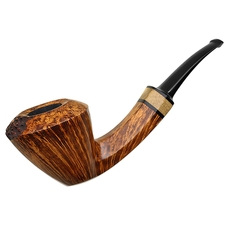 Jared Coles Smooth Bent Dublin with Orange Wood (1603)
