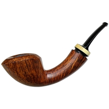 Jared Coles Smooth Bent Dublin with Orange Wood (1712)