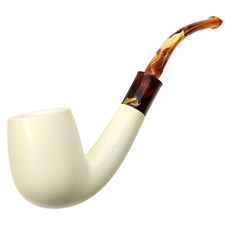 CAO Meerschaum Bekler Smooth Bent Billiard (with Case)