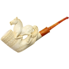 CAO Meerschaum Bekler Carved Equestrian Figures (with Case)