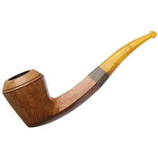 Manduela Smooth Natural Bent Bulldog with Horn and Amberoid