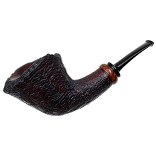 Ryan Alden Sandblasted Bent Dublin with Amboyna Burl