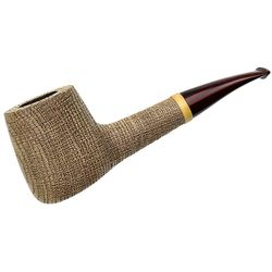G. Penzo Sandblasted Bog Oak '55' Bent Pot with Boxwood (Shell) (3A)