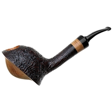 Savinelli Autograph Autograph Freestyle Partially Sandblasted Freehand (6mm)