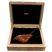 Savinelli Autograph Autograph Smooth Fan with Wooden Box (0) (6mm)