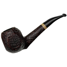 Savinelli Autograph Briar Line Sandblasted Paneled Bent Apple (6mm)