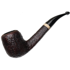 Savinelli Autograph Briar Line Sandblasted Bent Billiard (6mm)