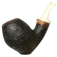 Dirk Heinemann Sandblasted Bent Egg Siter with Zebrano and Juma