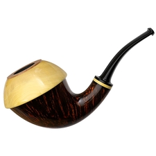 Ken Dederichs Smooth Calabash with Boxwood