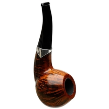 S. Bang Smooth Bent Apple with Silver (PH) (1836)